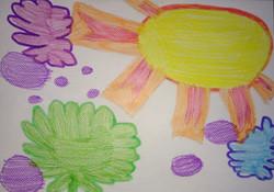 Desenho Infantil | Céu colorido