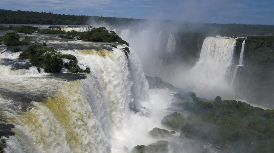Quedas d'água em Cataratas do Iguaçu | Foto Pixabay
