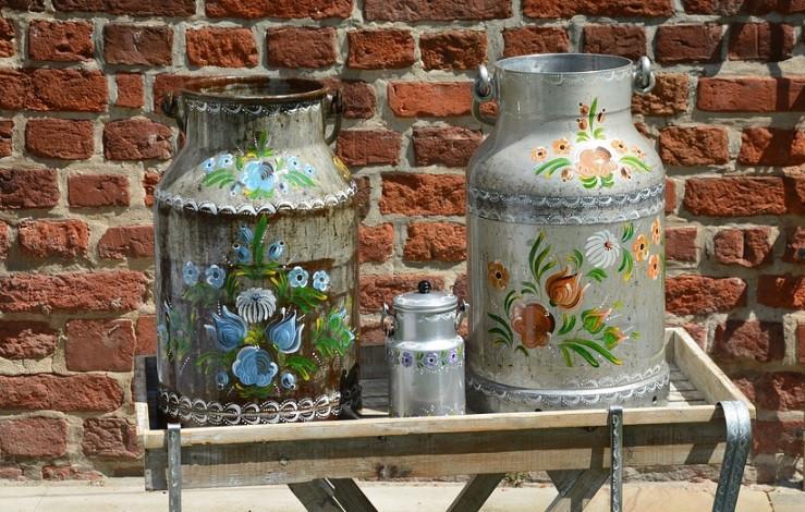 Latas de leite recicladas para plantas da horta | Foto Pixabay
