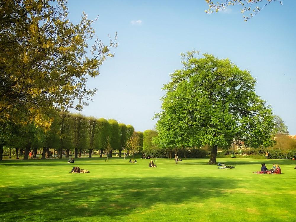 Pessoas contemplando um Parque Público em Copenhague | Foto Pixabay