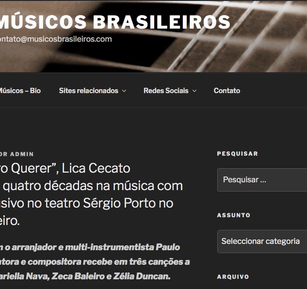 """Com """"Quero Querer"""", Lica Cecato comemora quatro décadas na música com show exclusivo no teatro Sérgio Porto no Rio de Janeiro."""