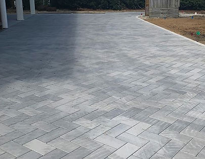 Gorgeous new paver driveway going in for