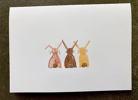 """Karte """"Osterhasen"""""""