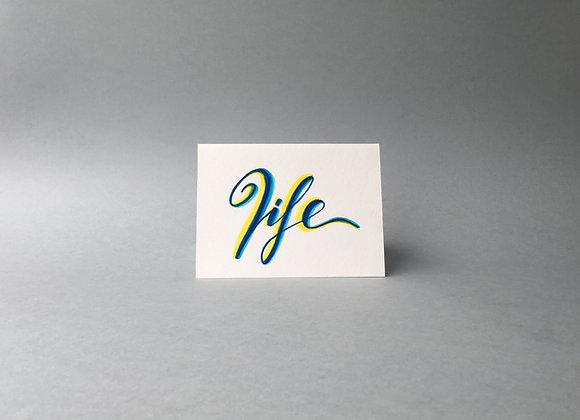"Karte ""Life"""