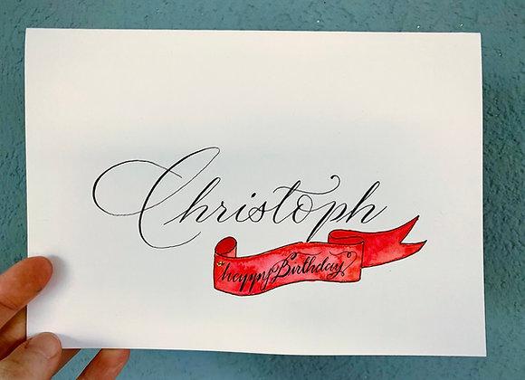 """Karte """"Geburtstagskarte personalisiert"""""""