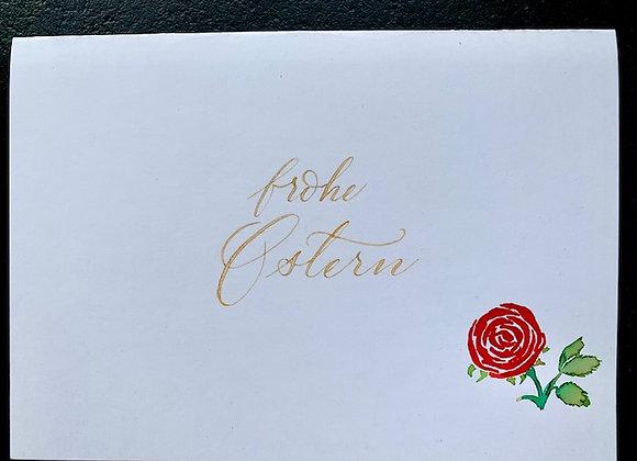"""Karte """"Oster-Rose"""""""