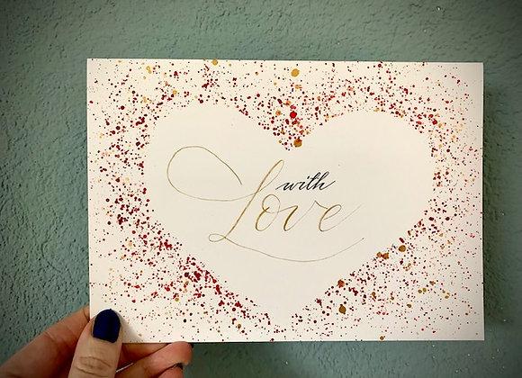 "Karte ""with Love"""