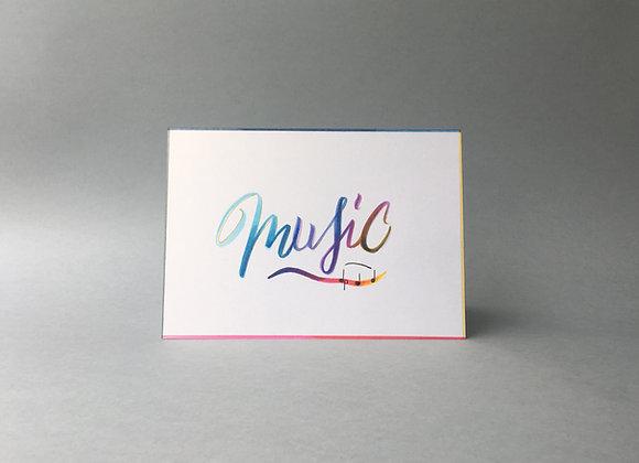 """Karte """"Music"""""""