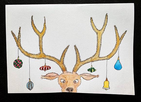 """Karte """"Weihnachtshirsch"""""""