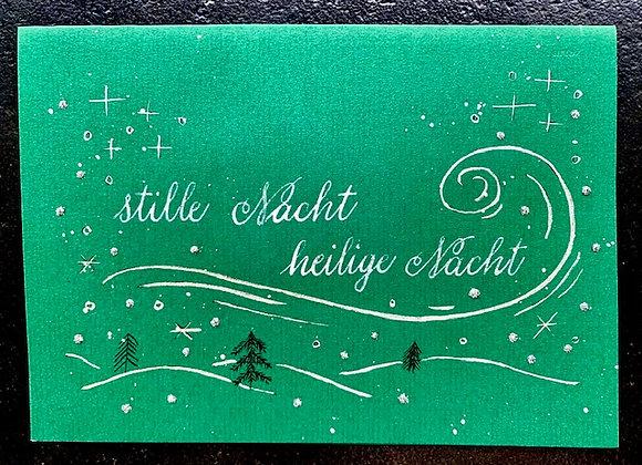 """Karte """"Stille Nacht, heilige Nacht"""", grün"""