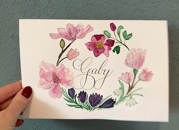 "Karte ""Saisonale Blumen"""