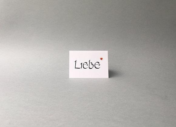 "Karte ""Liebe"""