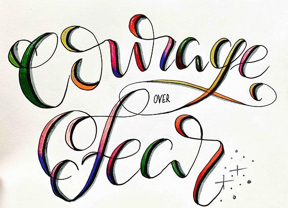 "Karte ""Courage over Fear"""