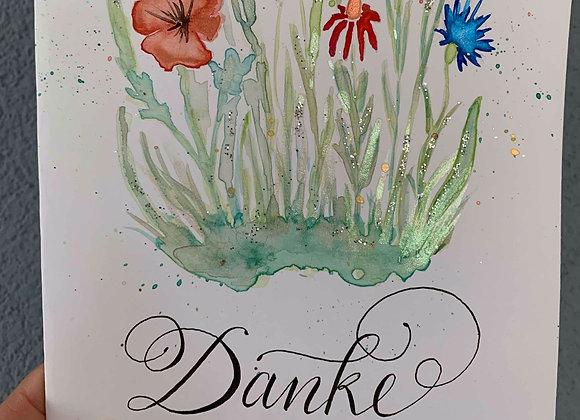 """Karte """"Danke - Blumenstrauss"""""""