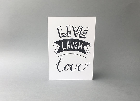 "Karte ""LiveLaughLove"""