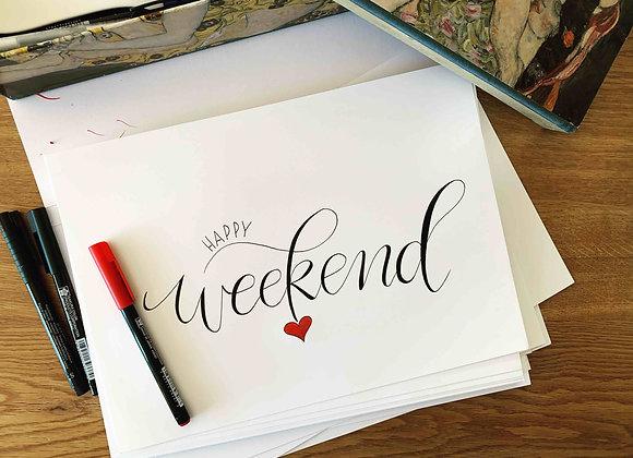 """Karte """"Happy Weekend"""""""