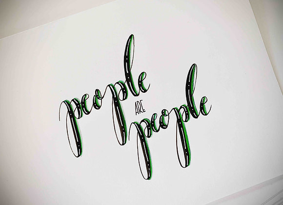 "Karte ""People are People"""