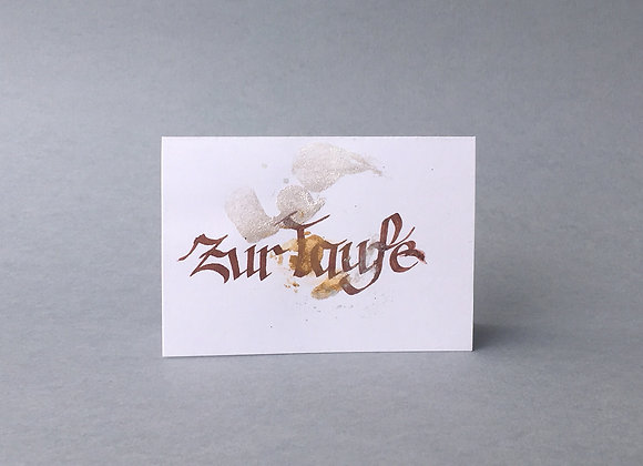 "Karte ""Taufe"""