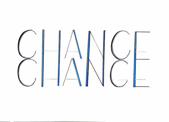 "Karte ""Chance - Change"""