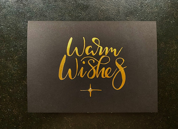 "Karte ""Warm Wishes"""