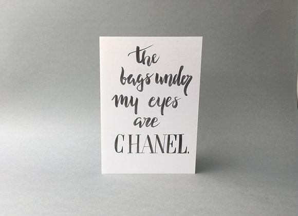 "Karte ""Chanel"""