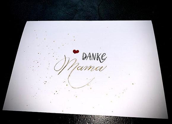 "Karte ""Danke Mama"", schlicht"