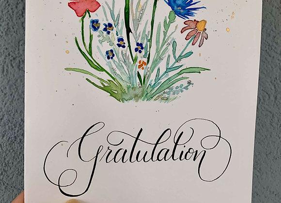 """Karte """"Gratulation - Blumenstrauss"""""""