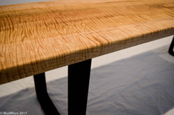 Tiger Maple Square Leg Bench (3 of 3)