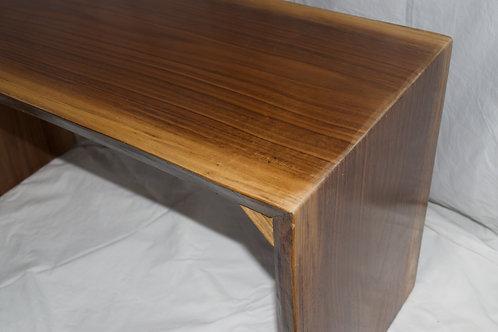 Walnut Bent-Wood Bench