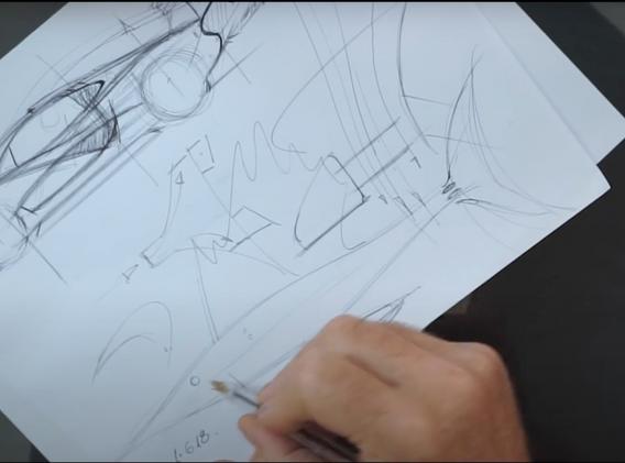 Frank's McLaren P1 Sketch