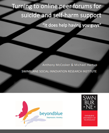 Turning to Online Peer Forums for Suicide and Self-Harm Support
