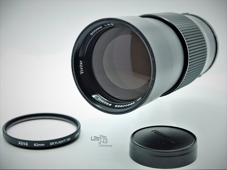 Vivitar f/3.5 200mm AutoTelephoto O/OM Mount Lens
