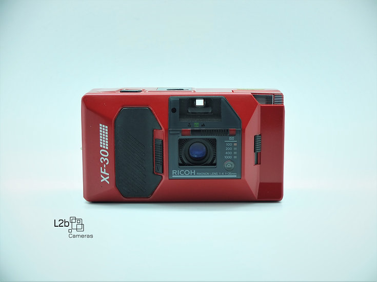 Ricoh XF-30 (RED) 35mm Point & Shoot Camera Boxed