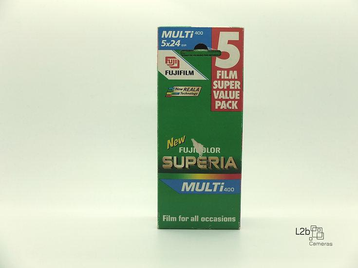 Fujifilm Superia 400 Colour 35mm Expired film 5 Pkt Box