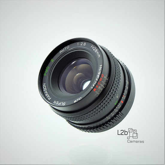 Paragon Super PMC ll f/2.8 28mm Macro Yashica C/Y Mount Lens