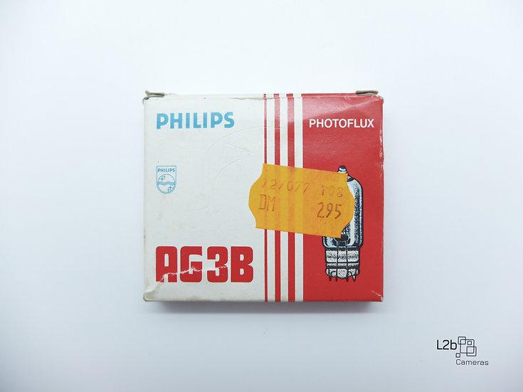 Philips AG3B Photoflux 10 Vintage Flash Bulbs Boxed