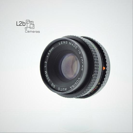 Cosina SQ f/2 50mm K Mount Prime Lens