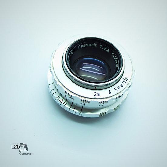 Steinheil München CASSARIT f/2.8 45mm LMS M39 Lens