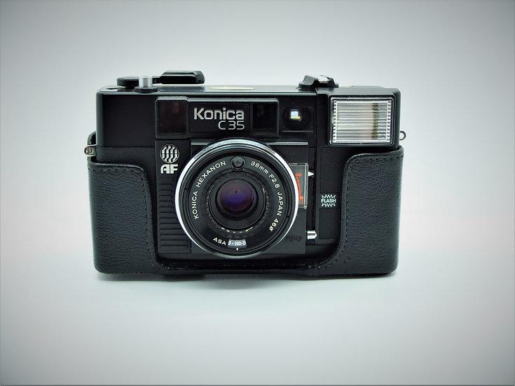 Konica C35AF 35mm Camera & Case
