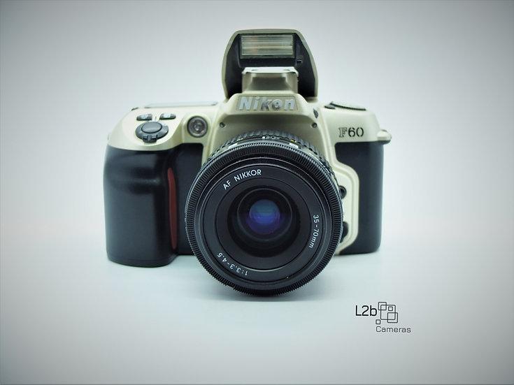 Nikon F60 35mm SLR Auto Focus Camera & Lens