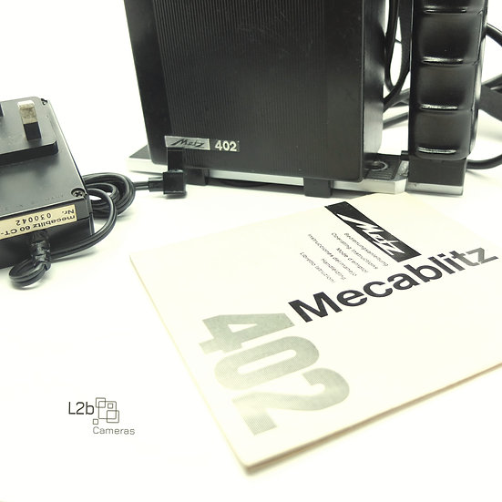 Metz 402 Mecablitz Flash head & Bracket