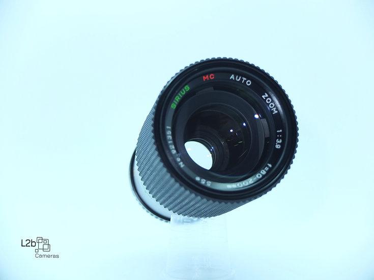 Sirius f/3.9 80-200mm Zoom M42 Lens