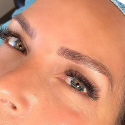 This client had old Microblading done by