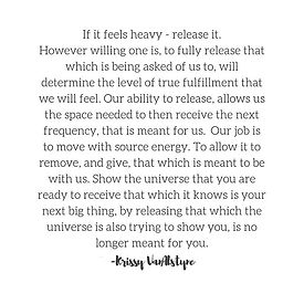 Release it. All of it. Let it fall where