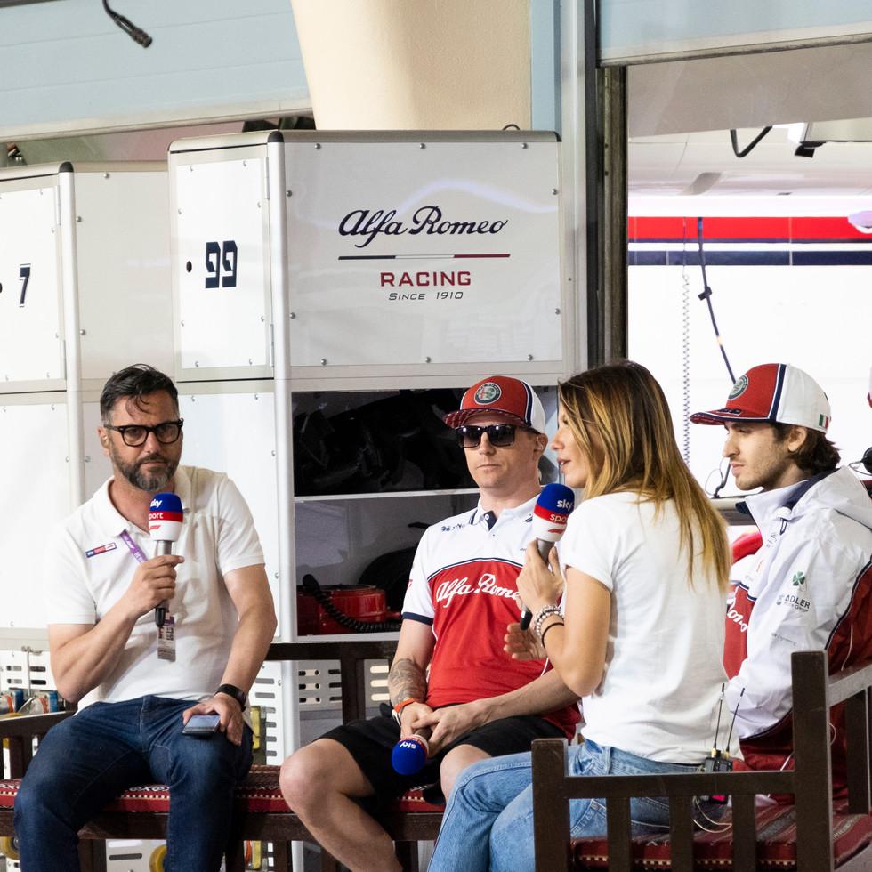 Kimi Raikkonen, Antonio Giovinazzi inter