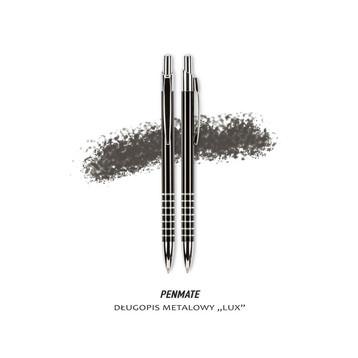 fotografia produktowa materiały biurowe długopis metalowy Lux Penmate czarny