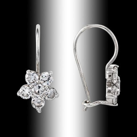 fotografia produktowa biżuteria kolczyki srebrne