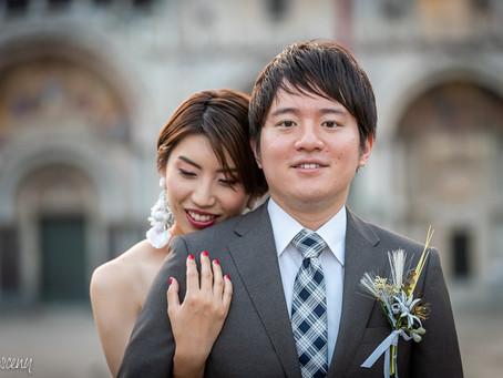 Japoński plener ślubny w Wenecji