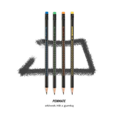 fotografia produktowa materiały biurowe ołówek HB z gumką Penmate