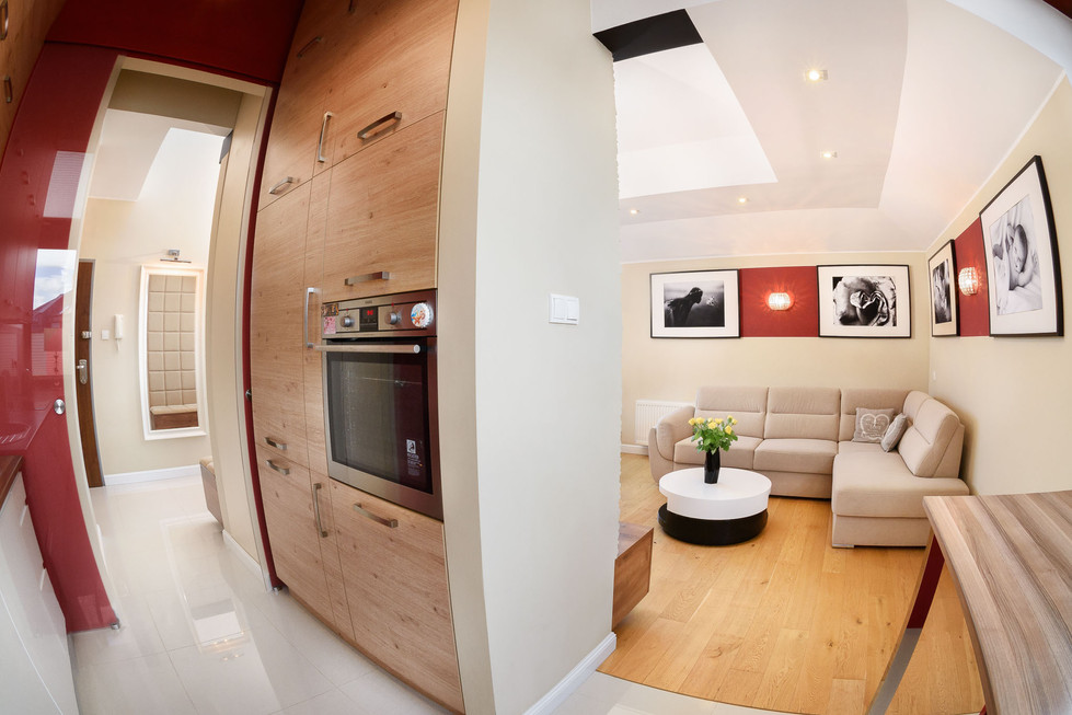 Fotosceny Fotografia apartamentu na poddaszu